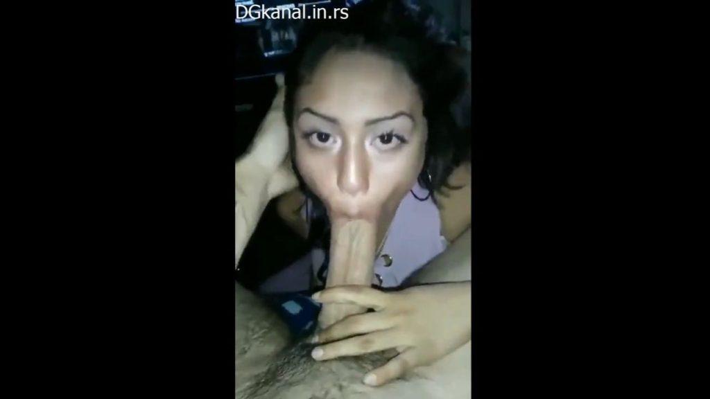 Gorgeous Ebony Sucking Mighty White Dick